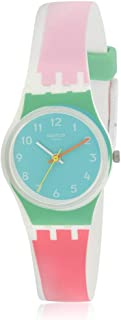 Swatch Women's De Travers Quartz Watch with Silicone Strap, Multi, 15 (Model: LW146)