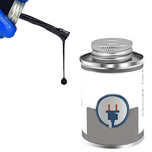 30/125ml Weiß/Schwarz liquid tape electric,isolierband flüssig,Flammschutzband für die Reparatur von Stromkreisdatenkabeln. (125ML, black)