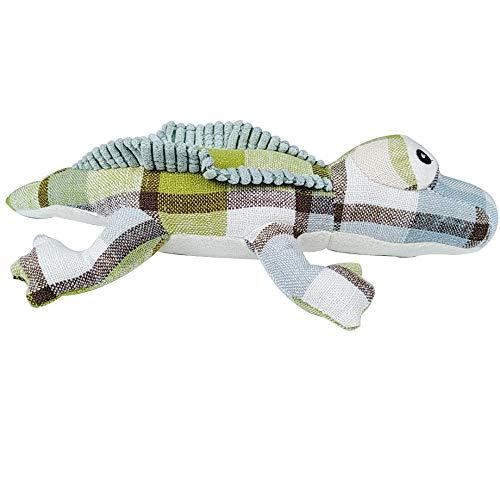 WUXXX Heimtierbedarf Katze Spielzeug Leinwand Oxford Tuch, Simulation grüne Eidechse beißen Spielzeug, interaktive langlebige und praktische Tierspielzeug