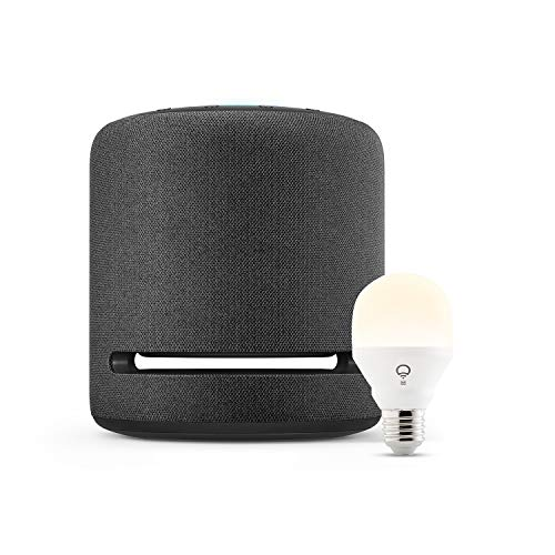Echo Studio + LIFX White Smarte LED-Lampe, mit WLAN, funktioniert mit Alexa
