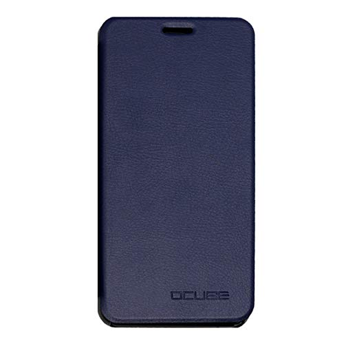 Cases for Phone for UMI Z Spring Texture Horizontal Flip Leather Case with Holder(Black) (Color : Dark Blue)