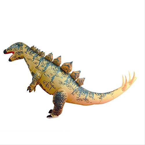 LQH Halloween Natale Stegosauro Gonfiabile Vestiti della Bambola del Fumetto del Anime Abbigliamento Tyrannosaurus Gonfiabile Prestazioni Costume for Adulti (Altezza 150-195Cm)