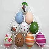 Uova di Pasqua Pendenti, Uova Decorative, Decorazione della Casa, Stile casuale, 6 x 4 cm in 12 Pacchetti.