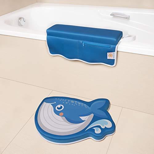 BANBALOO- Alfombrilla reposa rodillas y codos para el baño del bebé. Set de...