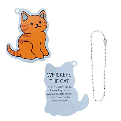Trackable, geo-versand Geocaching Travel Tag by Coinsan Dpins Cat Cache Buddy Cat Geocaching Travel Bug Gift