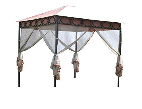 Leco 4er-Set Moskitonetze zum Pavillon Safari, nougat, 300 x 300 x 1 cm, 17805103