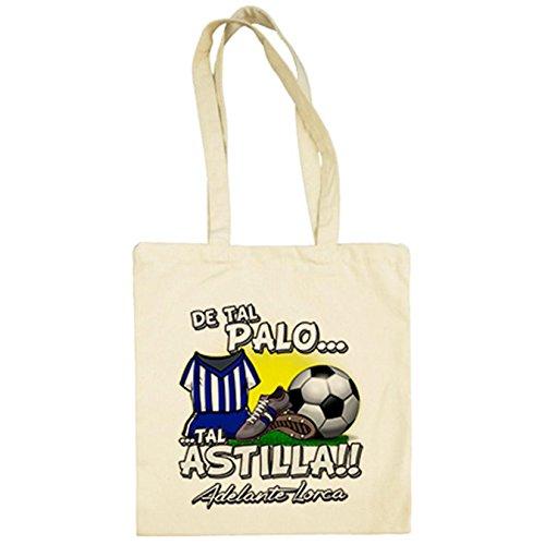 Diver Bebé Bolsa de tela de tal palo tal astilla de Lorca para aficionado al fútbol - Beige, 38 x 42 cm