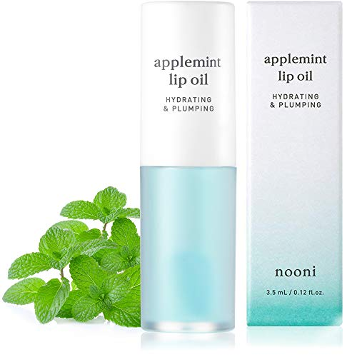 NOONI Applemint Lip Oil | Korean Tinted Lip Oil To Soothe Dry Lips | Vegan, Cruelty-free, Paraben-free, Mineral-Oil free