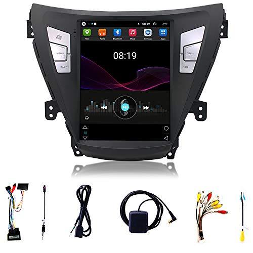 Tlyd Receptor de Audio estéreo de automóvil Admite 1080p con 9,7 Pulgadas con Llamada Bluetooth FM Llamada sin Manos Adecuada para 11-13 Modern Elantra Vertical Screen Center Console (1 + 16g)