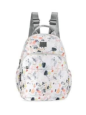 Caprese Bobby Women's Backpack Medium Multicolor White
