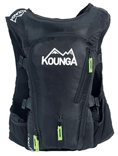 Kounga Auyan Ultra Trail 15l Rucksack, Unisex adulto, Black, 15 Litres