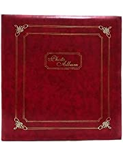 Natraj Original Vinyl Leather Cover Photo Album with 0.6 mm Thick Extra Clear PVC Film, 100 Pocket (Photo Size Supported: 5x7ft)