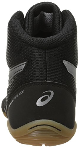ASICS Men's Matflex 5-M, Black/Silver, 10 M US