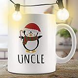 N\A Uncle Gift Pinguino Tazza Natalizia Tazza Natalizia Tazza Natalizia Tazza Natalizia Divertente Tazza Divertente Tazza Coordinata Tazze familiari Tazza da caffè