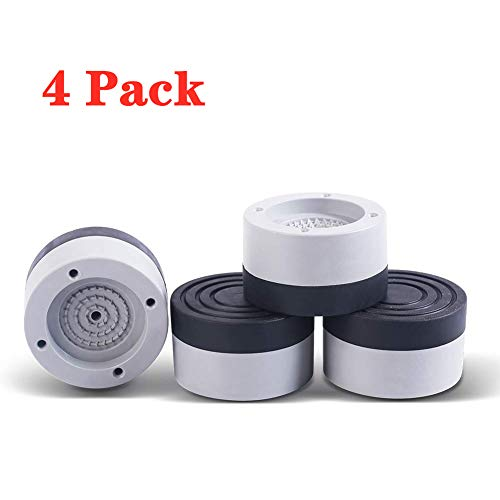 Anti-Vibration Anti-Walk Washer Dryer Pads - Durable Stackable 4 Pack Washer Dryer Shock Absorbing Pads - Raise Height, Reduce Noise