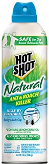 Hot Shot Natural Ant & Roach Killer, Aerosol, 14-Ounce