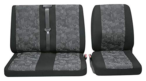 Stoelhoezen hoes 3-dlg. Autohoezen stoelbekleding VW T5 Crafter T6 Sprinter enz.