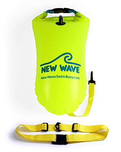 Learn More About New Wave Swim Buoy for Open Water Swimmers and Triathletes - Light and Visible Floa...