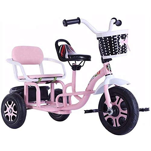 azz Trike tandem, driewieler voor kinderen, multifunctioneel, kan grote dubbele zitplaatsen dragen of driewieler kindercadeau verjaardag