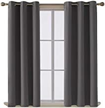 Deconovo Room Darkening Thermal Insulated Blackout Grommet Window Curtain for Living Room, Dark Grey,42x63-Inch,1 Panel