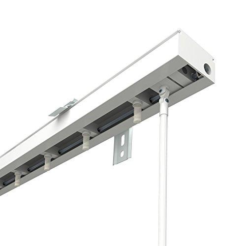 VICTORIA M Lamellenvorhang, Jalousie Schiene für 8,9cm Lamellen | 200cm Länge, weiß