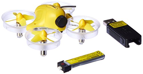 Blade Inductrix FPV BNF Ultra Micro Drone with Safe Tech   25mW FPV Camera   1S 200mAh LiPo Battery & USB Charger (Yellow)