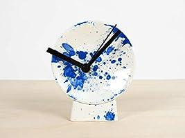 Splash Horloge - de-coratif interieur bureau Éclaboussure de-sign poterie porcelaine pendule