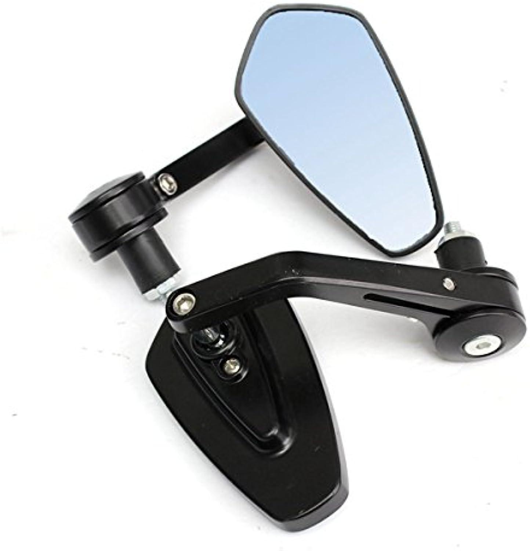 Utini 7 8inch 22mm Universal Motorcycle Handlebar Bar End Rear View Mirrors