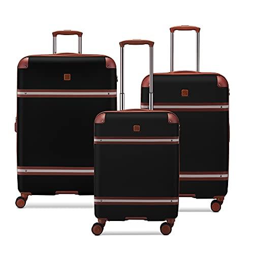 MODO by Roncato Charm Plus Set 3 trolley rigido espandibile Nero con chiusura TSA