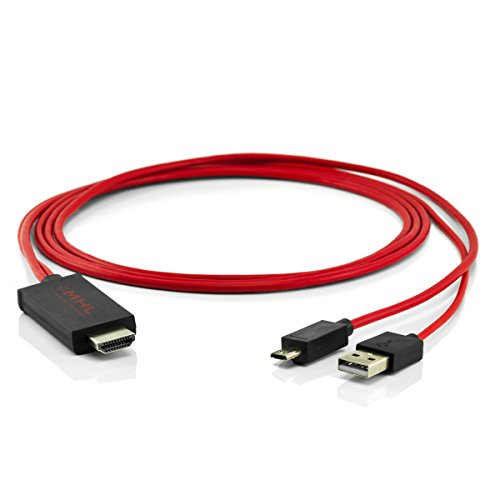 11pines MHL HDMI HDTV Adaptador Convertidor HD TV Usb Cable rojo para Samsung teléfonos móviles, teléfonos inteligentes y Tablet PC