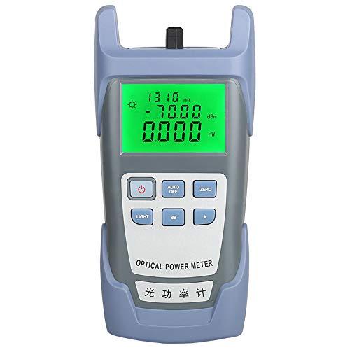 Probador de Medidor de potencia óptica Medidor de atenuación óptica AUA-85 Rango de prueba de 6 longitudes de onda -70 a +10 dBm (Gris)