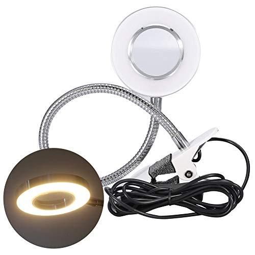 USB LED bureaulamp, draagbare clip bureaulamp met clip tattoo bureaulamp dimmer make-up tafellamp met flexibele hals, voor huidverzorging, beauty Reading werk
