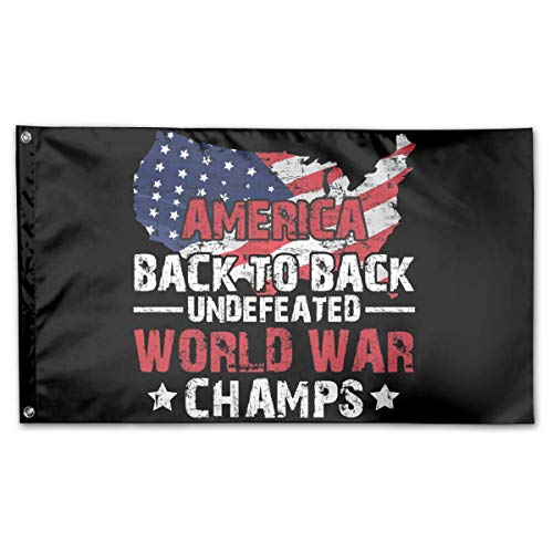 Emonye America Back to Back Undefeated World War Champs Flag 3' X 5' Ft Flag Outdoor Flag 100% Single-Layer Polyester Banner Flag Party Flags