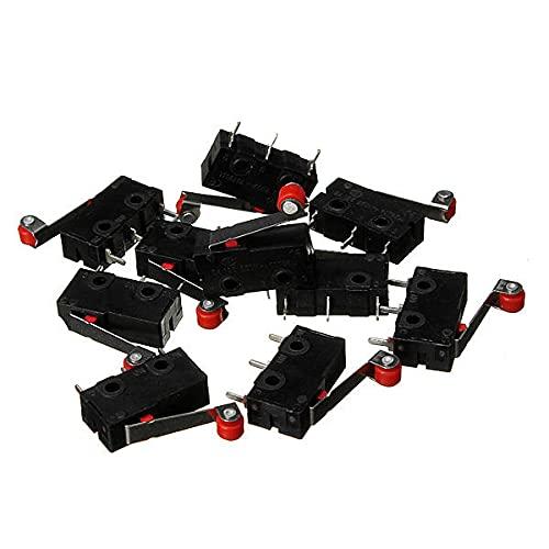 Módulo electrónico Final de carrera de Micro KW12-3 Con Roller Lever 5A 125V de apertura/cierre del interruptor 30Pcs Equipo electrónico de alta precisión