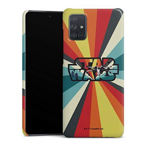 DeinDesign Premium Case kompatibel mit Samsung Galaxy A71 Smartphone Handyhülle Hülle glänzend Star Wars Retro Fanartikel