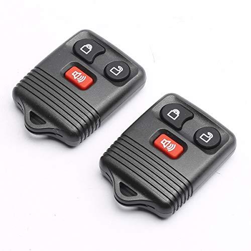 CENTAURUS Car Key Fob (Set of 2) Keyless Entry Remote 3 Button Replacement for 1998-2016 F150 F250 F350 - CWTWB1U331, CWTWB1U212, CWTWB1U345, GQ43VT11T Black