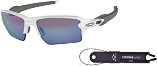 Oakley Flak 2.0 XL OO9188 Sunglasses For Men+BUNDLE with Oakley Accessory Leash Kit