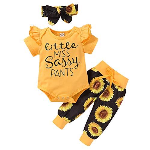 Homemaxs Bebé Niña Linda Letra Imprimir Camisa Langarm Blumenhose Entrenamientosanzug Trajes Conjunto