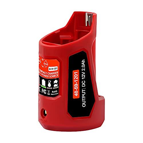 DSANKE USB Power Source for Milwaukee 48-59-1201 49-24-2310 M12 USB Charging Adapter 10.8V/12V Heated Jacket Power Source Li-ion Battery Power Source