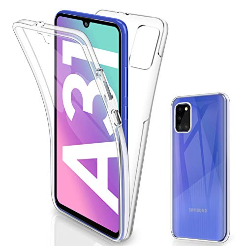 Gnews für Samsung A31 Hülle, für Samsung Galaxy A31 Schutzhülle 360 Grad Full Body Front Und Rückenschutz Handyhülle Transparent Schutzhülle Durchsichtige Bumper für Samsung Galaxy A31