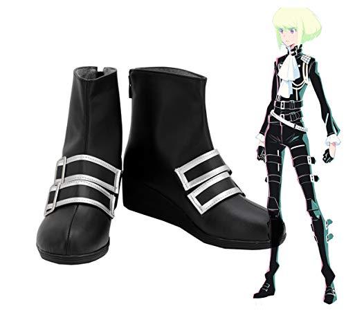 Promare Lio Fotia Cosplay botas zapatos negros hechos a medida de cualquier tamao disfraces de Halloween Cosplay Prop 43