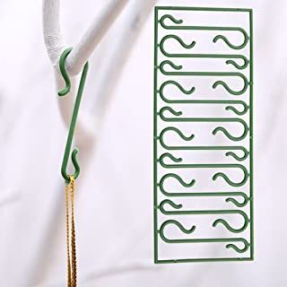 Lanyani 300 Count Miniature Holiday Christmas Ornament Hooks Green Ornament Hangers – Green Blend in Tree