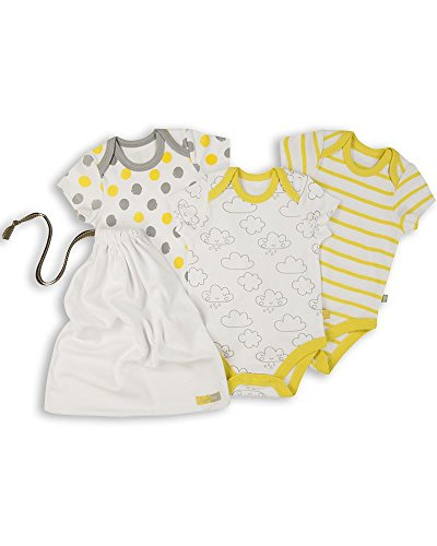 The Essential One - Paquete de 3 Body Bodies para bebé Unisex - Primera Puesta - ESS169