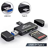 USB 3.0 SD Card Reader, COCOCKA USB Type C Memory Card Reader, OTG Adapter for SDXC, SDHC, SD, MMC, TF, RS-...