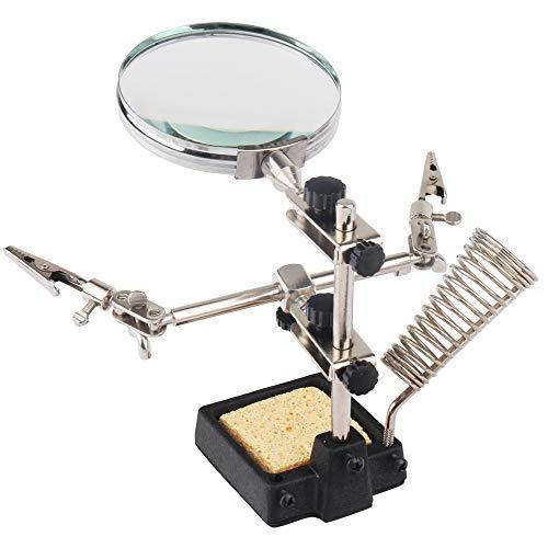 Hi-Spec Lötständer und Reinigungsschwamm zum Löten, für Elektronik, Hobby & Handwerk