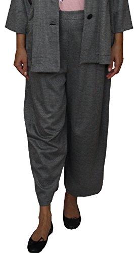 Dégradé 1625006 damesbroek wijd gesneden 7/8 broek, Colet Broek, hoge tailleband, zwart-wit, maat 42-44.