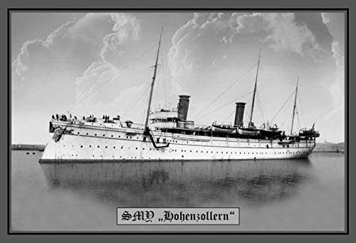 FS Schip SMS Hohenzollers Oorlogse boot metalen bord gewelfd Metal Sign 20 x 30 cm