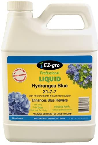 Ez-gro hydrangea fertilizer - added aluminum sulfate to produce blue...