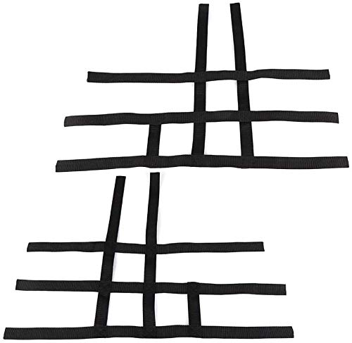 kemimoto Webbing Nerf Bar Net Compatible with Honda TRX 400EX TRX 450R Nerf Bar Black