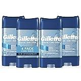 Gillette Antiperspirant & Deodorant for Men, Cool Wave Clear Gel, 3.8 Oz, Pack Of 4